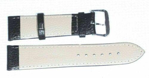 Bracelet Montre en cuir Noir 22 mm 2 barrettes B18A