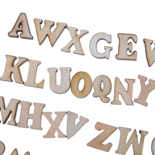 100X Buchstaben Holz Alphabet Verschönerung Scrapbooking Cardmaking Craft ZJP