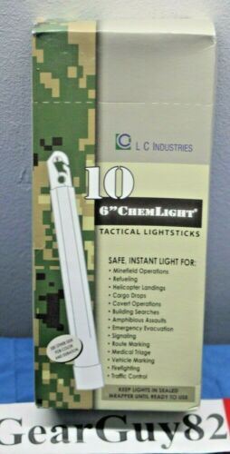 Details about  /LC Industries ChemLight 6 inch Yellow Box of 10 Military Grade Glow Stick C27