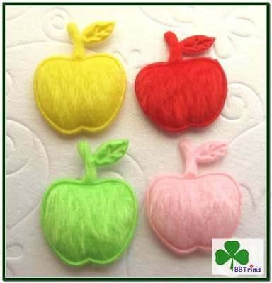 """1/"""" x 3//4/"""" 150 pc x Mixed Padded Furry Felt Apple Appliques for Card//Bow ST232A"""