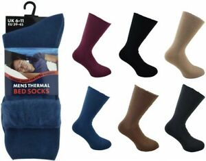 Mens-Comfort-Brushed-Inside-Insulated-Acrylic-Thermal-Bed-Socks-UK-Size-6-11