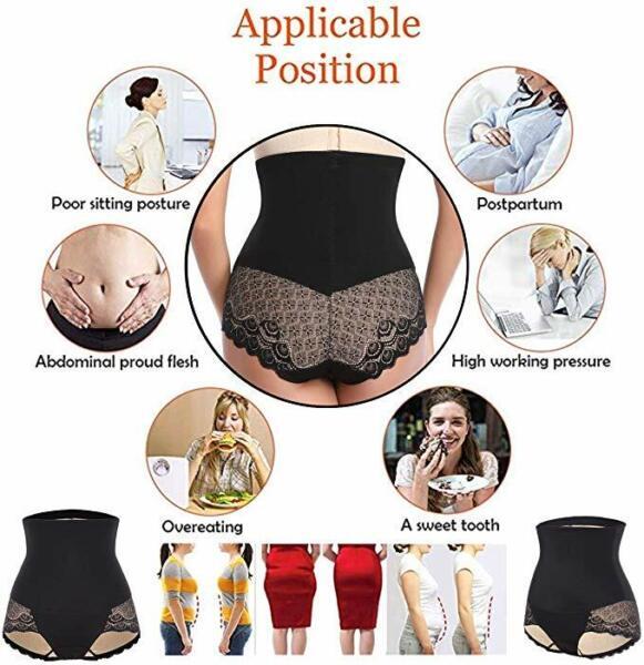 Damen Shapewear Bauch Kontrolle Body Shaper Figurformende Miederhose Unterwäsche