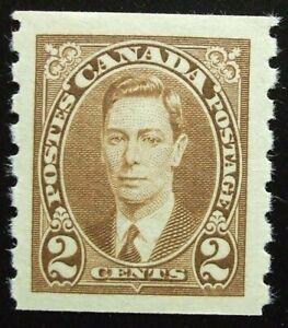Canada Scott #239 MNH 2cent King George VI coil, 1937, Nice Margins!