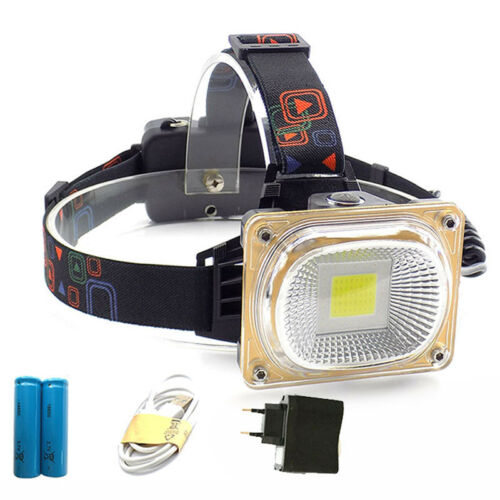 new 18650 Headlight Camping Lantern USB Rechargeable Frontal LED Head Lamp Torch