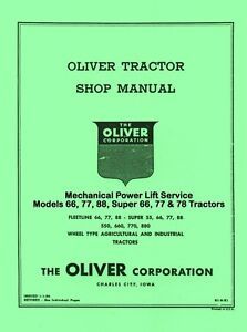 Oliver-66-77-88-Mechanical-Power-Lift-Service-Manual