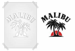 MALIBU STENCIL VINTAGE MANCAVE template PLASTIC CARD/WALL  ART SHABBY CHIC