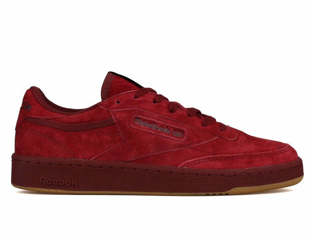 New Reebok Mens Classic Club C 85 TG Burgundy Low Top Suede schuhe Größe 7
