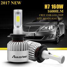 160W 16000LM H7 CREE LED Headlight Conversion Low Beam Bulb Kit 6000K VS Philips