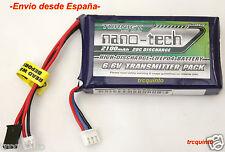 Bateria LifePo4 tipo Life 6,6v 2100mA 20C conector futaba, emisora T14SG y 4PK