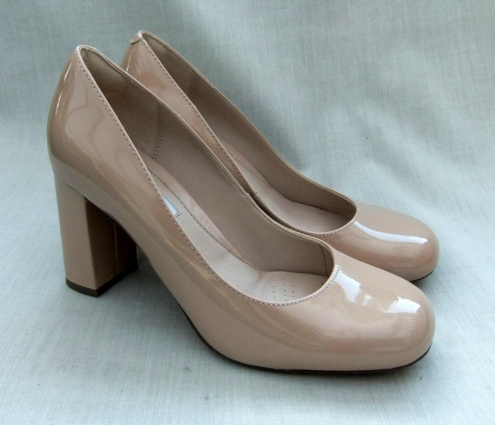 NEW CLARKS GABRIEL MIST femmes NUDE PATENT LEATHER chaussures