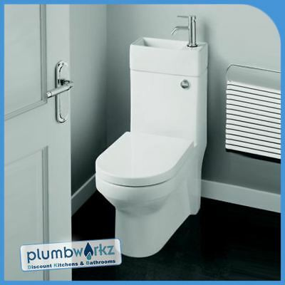 2in1 Combo Combination Toilet & Sink Together Wash Basin Bathroom WC Space Unit