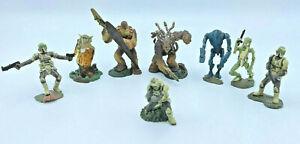 2005-Hasbro-LFL-Star-Wars-Character-Action-Figures-Yoda-Chewbacca-Lot-Of-8