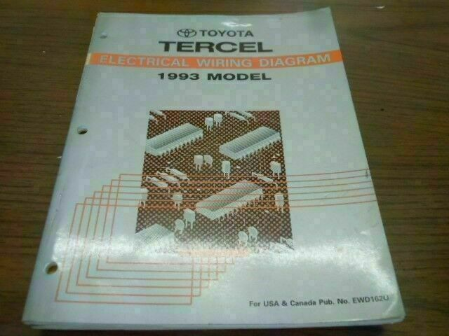 1993 Toyota Tercel Electrical Wiring Diagram Ill Shop
