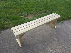HOLLIES-Standard-Garden-Bench-4FT-to-8FT-Wooden-Hand-Made-Outdoor-Furniture