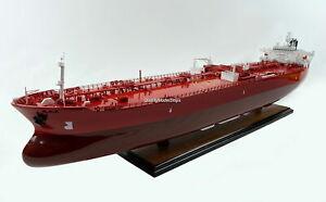 """Crude Oil Tanker 40"""" Custom Handmade Wooden Ship Model"""