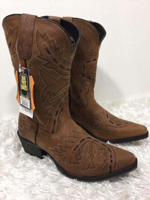 b616b59422ea NEW Dan Post Leather Girls YOUTH Cowboy Boots TAN SIDEWINDER Snip toe NIB  Sz 4.5