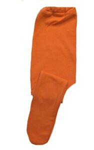 adaae3bb0 Baby Girls  Orange Cotton Spandex Knit Tights - 6 Preemie Newborn ...