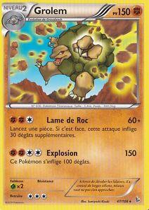 XY2:Etincelles Carte Pokemon Neuve Française 47//106 Grolem Reverse