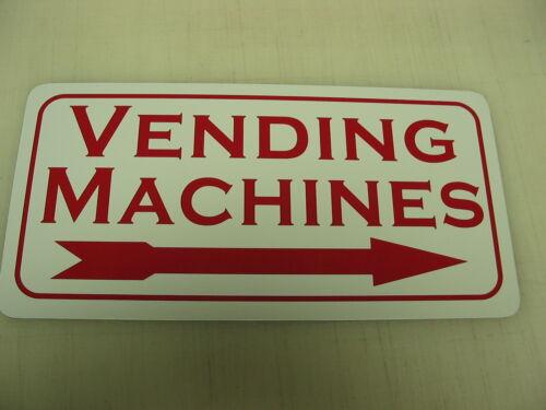 VENDING MACHINES Metal Tin Sign RIGHT ARROW Vintage Style Coke Pepsi Candy Soda