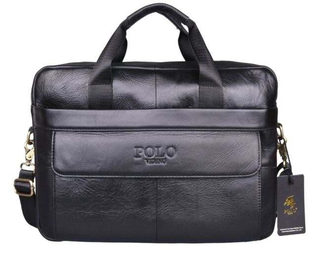 VIDENG POLO Hotest Men's Top Genuine Leather Handmade Briefcase Shoulder Mess...
