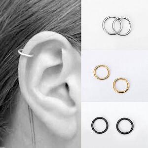 Stainless-Steel-Piercing-Hoop-Earrings-Helix-Nose-Ear-Cartilage-Ring-Cool-Deco