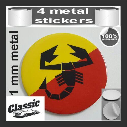 METAL STICKERS WHEELS CENTER CAPS Centro LLantas Classic 4pcs Classic ABARTH 32