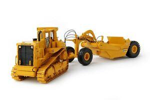 Caterpillar-Cat-D9L-with-631E-Towed-Scraper-CCM-1-48-Scale-Diecast-Model-New