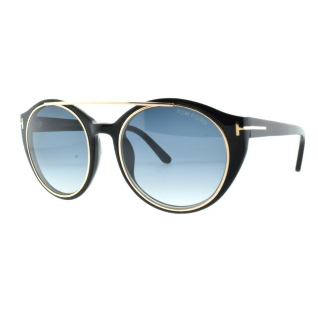 99798e0d23d Tom Ford Sunglasses 0383 Joan 01w Shiny Black Blue Gradient for sale ...