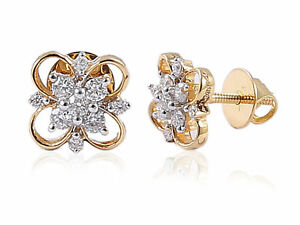 Pave-0-23-Cts-Natural-Diamonds-Stud-Earrings-In-Fine-Certified-18K-Yellow-Gold