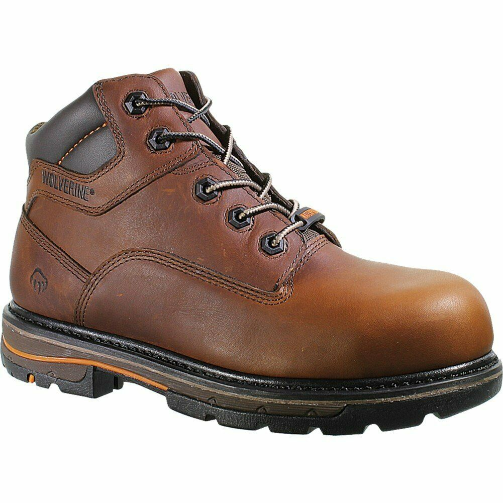 "Wolverine Men's Razorback 6"" Composite Toe Boots, Brown, 7.5 EW"