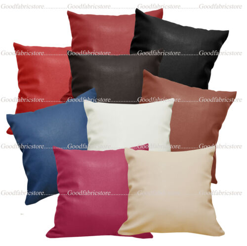 Pb+9 Colors Faux Leather Skin Soft PU Cushion Cover//Pillow Case *Custom Size*