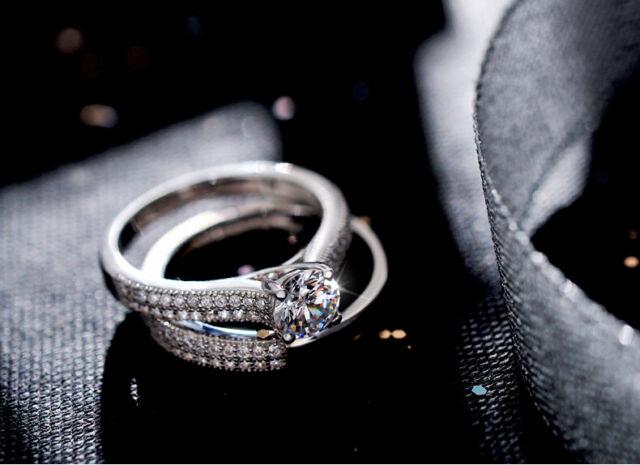 Classic Women Pave Set Diamonique Cz 925 Silver Wedding Band Ring Set Sz 4-10