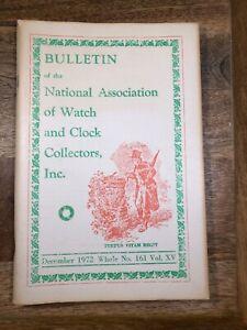 NAWCC Bulletin Dec 72, Main Wheel Click Rplc, Reverse Paint Glass...    (K1272)