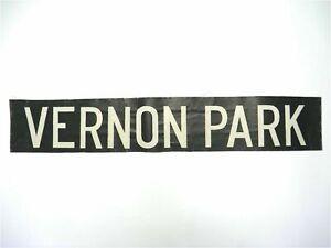 Vernon-Park-Vintage-North-West-screen-printed-linen-Bus-destination-blind