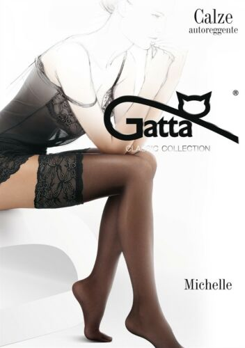 """Gatta supporto senza calze /""""Michelle 03/"""" in NERO MIS XS//S-M//L"""