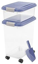 Air Tight Seal Pet Dry Dog Cat Food Container Combo - Storage Bin Treats