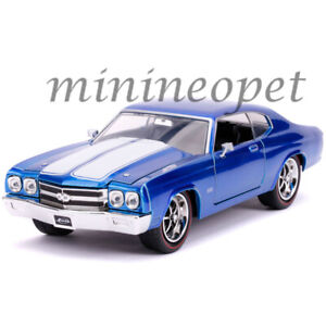 JADA-31450-BIGTIME-1970-CHEVY-CHEVELLE-SS-1-24-DIECAST-MODEL-CAR-BLUE