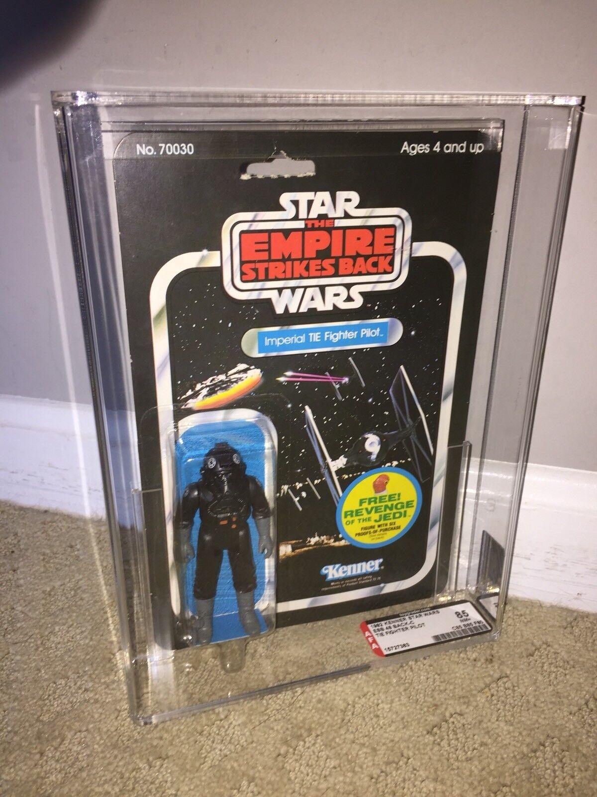 Autoridad Figura de Acción 85 Star Wars 1982 Kenner Corbata Corbata Corbata piloto 48-BACK-C (C85 B85 F80) casi nuevo Transparente +  saludable