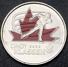 2009 Canada Cindy Klassen Hockey Coloured Quarter - 25 cents - Free Combined S/H