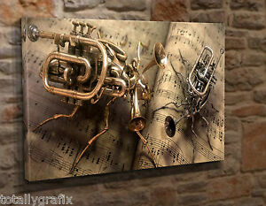 Image Is Loading Extra Large Canvas Wall Art Picture Print Steampunk