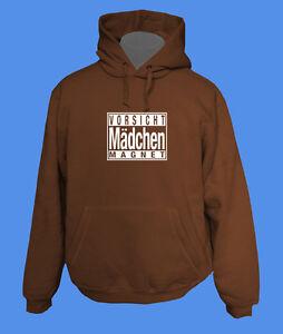 Hoody-Kapuzenpullover-Vorsicht-Maedchenmagnet-move2be-braun-S-schoko-choco-cool