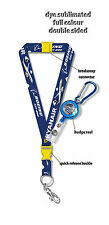 Ryanair Boeing B737-800  Dye Sublimation Lanyard + Badge Reel