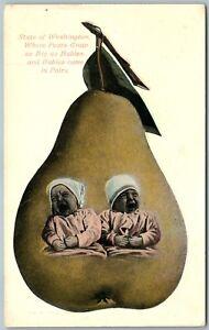 MULTIPLE-BABIES-WASHINGTON-PEARS-ADVERTISING-1911-ANTIQUE-POSTCARD