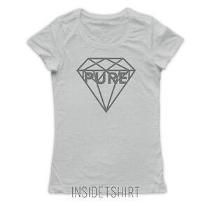Maglietta Diamond Pure Jewel Cool T Diamante Donna Tattoo Maglia Ink DEHYeW29Ib
