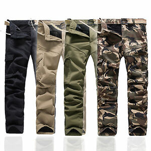 herren kampf baumwolle cargohose armee dicke hosen milit r camo arbeitshose neu ebay. Black Bedroom Furniture Sets. Home Design Ideas