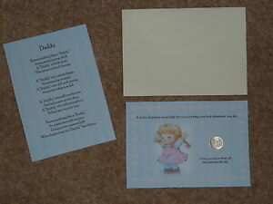 DADDY-039-S-FATHERS-DAY-BIRTHDAY-LUCKY-SIXPENCE-amp-POEM-IDEAL-KEEPSAKE
