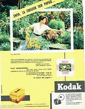 PUBLICITE ADVERTISING 026  1956  Kodak  pellicule film Kodachrome lumière