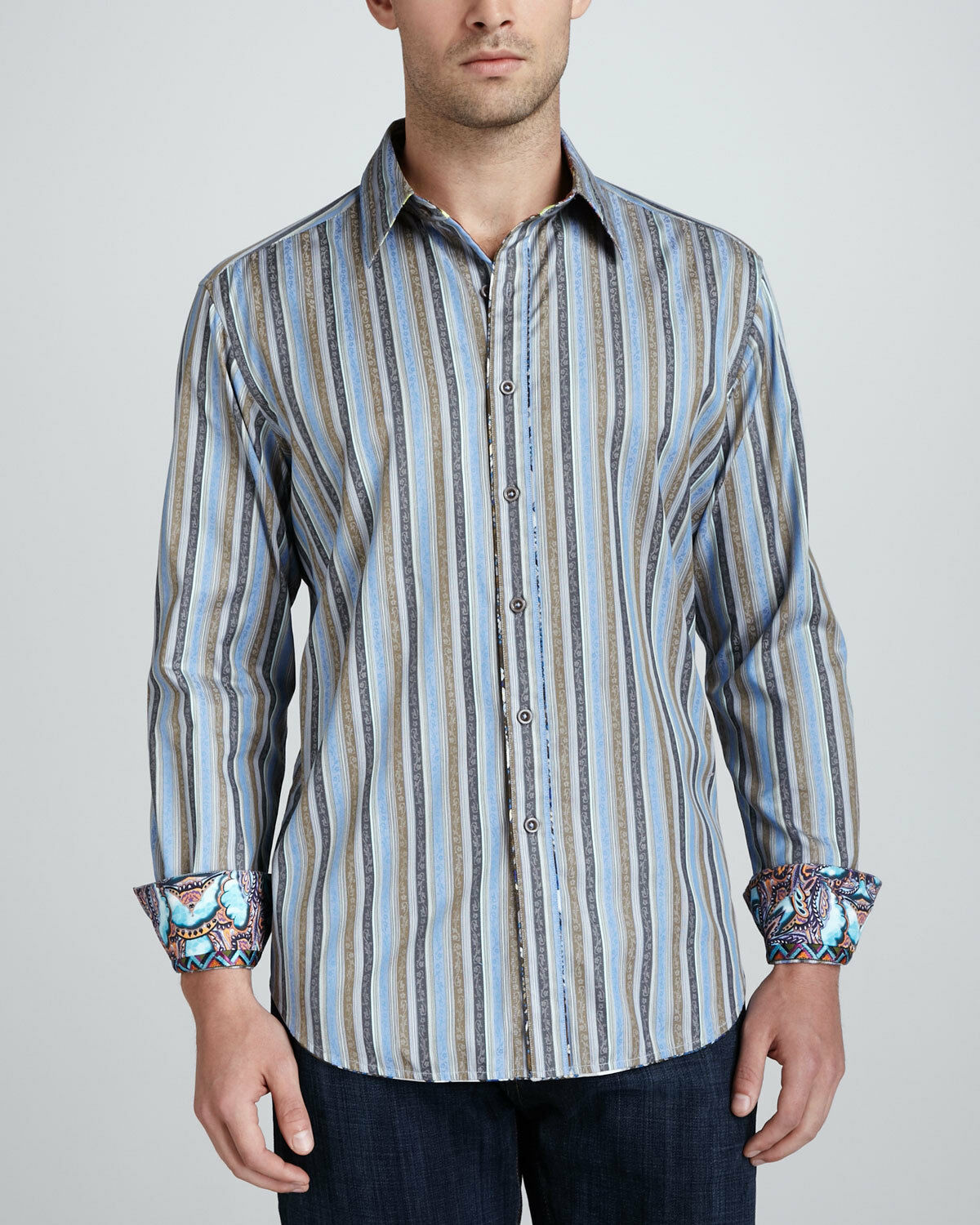 Robert Graham Davis Shirt - Classic Fit - Size LARGE - NEW WITH TAGS