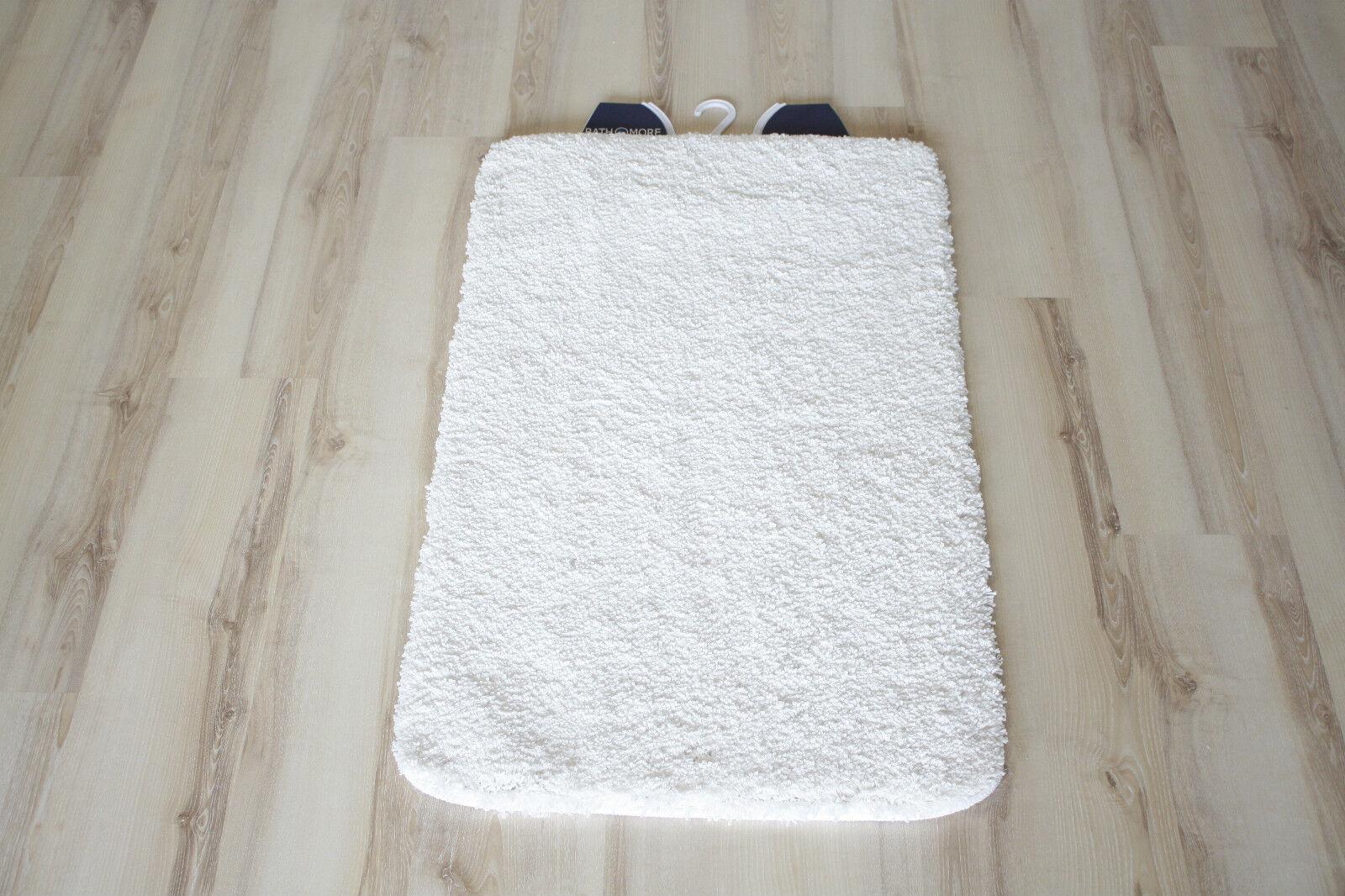 Badteppich Badematte Uni Weiß 60x100cm weich       | Tragen-wider  6440d2