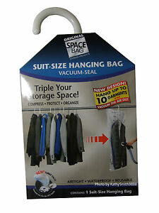 e97313342466 Image is loading NEW-Vacuum-Sealing-Hanging-Suit-Storage-Bag-Free-